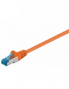 RB-LAN Patchcord S/FTP (PiMF) LSZH pomarańczowy Cat.6a, 1.0m