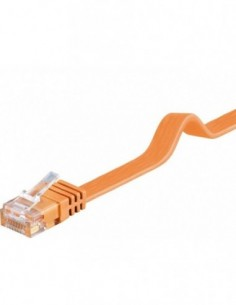 RB-LAN PatchCord Kat.6 UTP płaski pomarańczowy, 7.0m