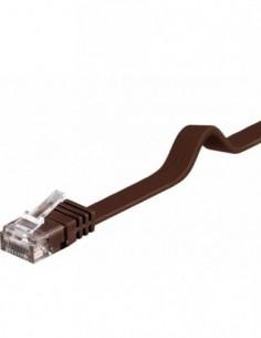 RB-LAN PatchCord Kat.6 UTP płaski jasno brązowy, 1.0m
