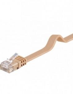 RB-LAN PatchCord Kat.6 UTP płaski jasno brązowy, 2.0m