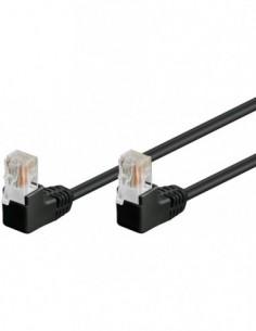 RB-LAN Patchcord U/UTP Kat.5e Wtyk 2x Kątowy  90° czarny 15.0m