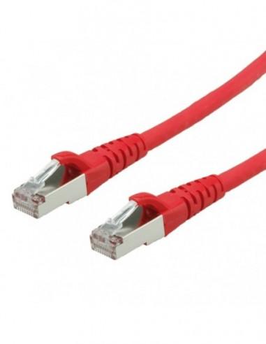Roline PatchCord S/FTP (PiMF) Kat.6 10m LSOH czerwony