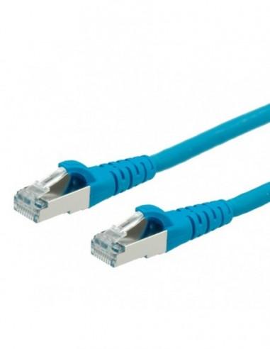 Roline PatchCord S/FTP (PiMF) Kat.6 15m LSOH niebieski