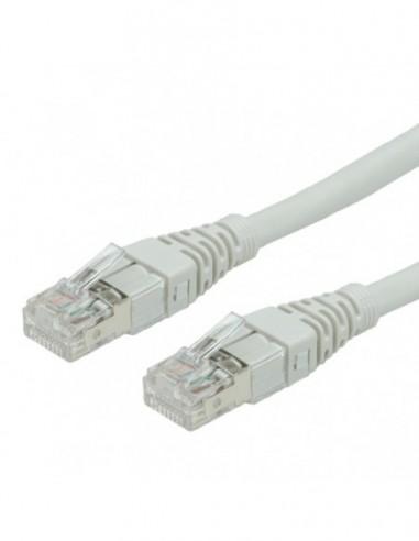 ROLINE PatchCord S/FTP Kat.6a 0.5m szary