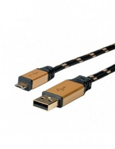 ROLINE Kabel USB 2.0 GOLD A...