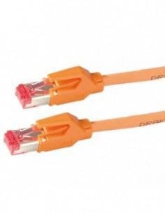 DRAKA Patchcord S/FTP Kat.6 H pomarańczowy 1m