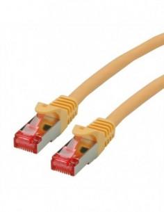 ROLINE S/FTP Patchcord Cat.6 Component Level, LSOH, żółty, 20.0 m
