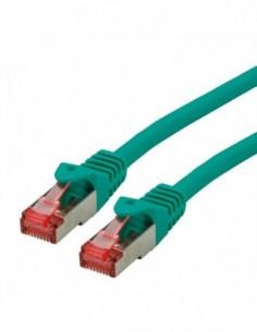 ROLINE S/FTP Patchcord Cat.6 Component Level, LSOH, zielony, 10.0 m