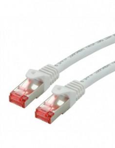 ROLINE S/FTP Patchcord Cat.6 Component Level, LSOH, biały, 10.0 m