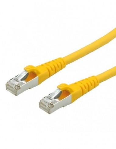 ROLINE PatchCord S/FTP (PiMF) Kat. 6 1m LSOH Żółty