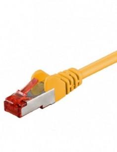 RB-LAN Patchcord S/FTP (PiMF) LSZH żółty Cat.6, 1.0m