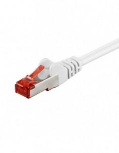 RB-LAN Patchcord S/FTP (PiMF) LSZH biały Cat.6, 1.0m