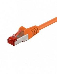 RB-LAN Patchcord S/FTP (PiMF) LSZH pomarańczowy Cat.6, 1.5m