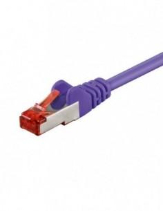 RB-LAN Patchcord S/FTP (PiMF) LSZH fioletowy Cat.6, 1.0m